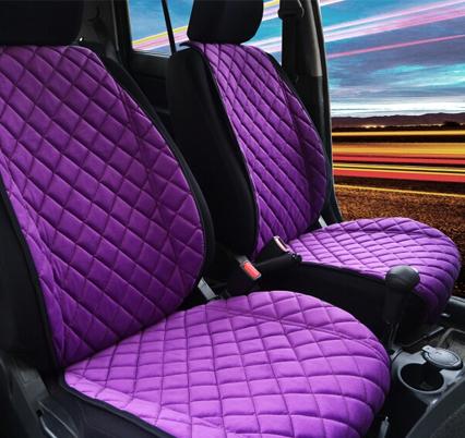 Накидка на сидение автомобиля фиолетовая